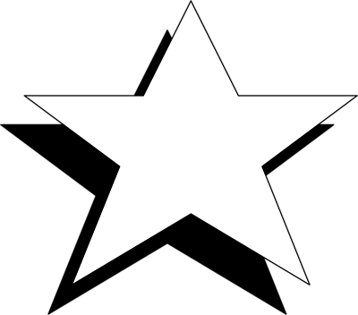 PNG Star Black And White - 60950