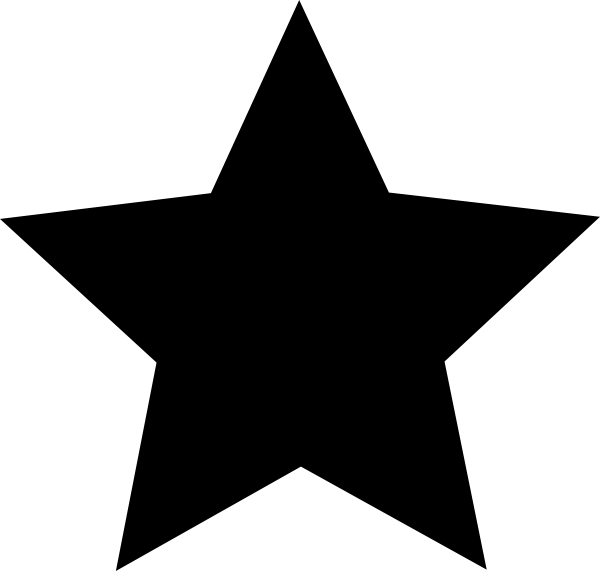PNG Star Black And White - 60949