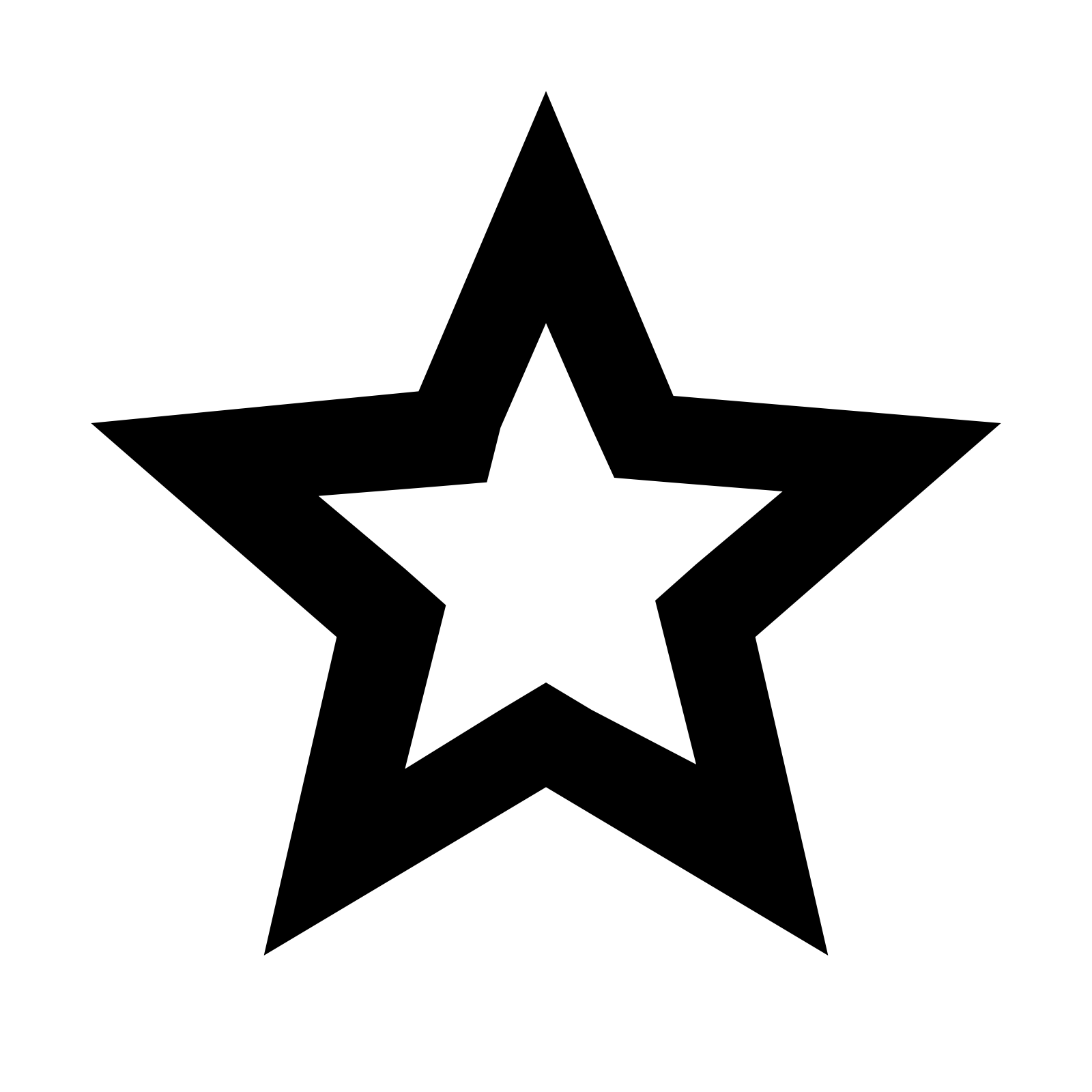 PNG Star Black And White - 60960