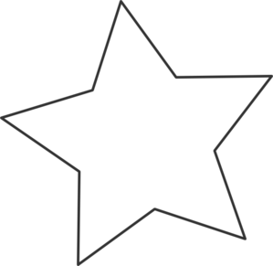 White Star Black Clip Art - PNG Star Black And White
