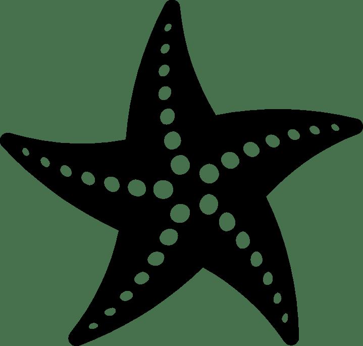 png starfish black and white transparent starfish black