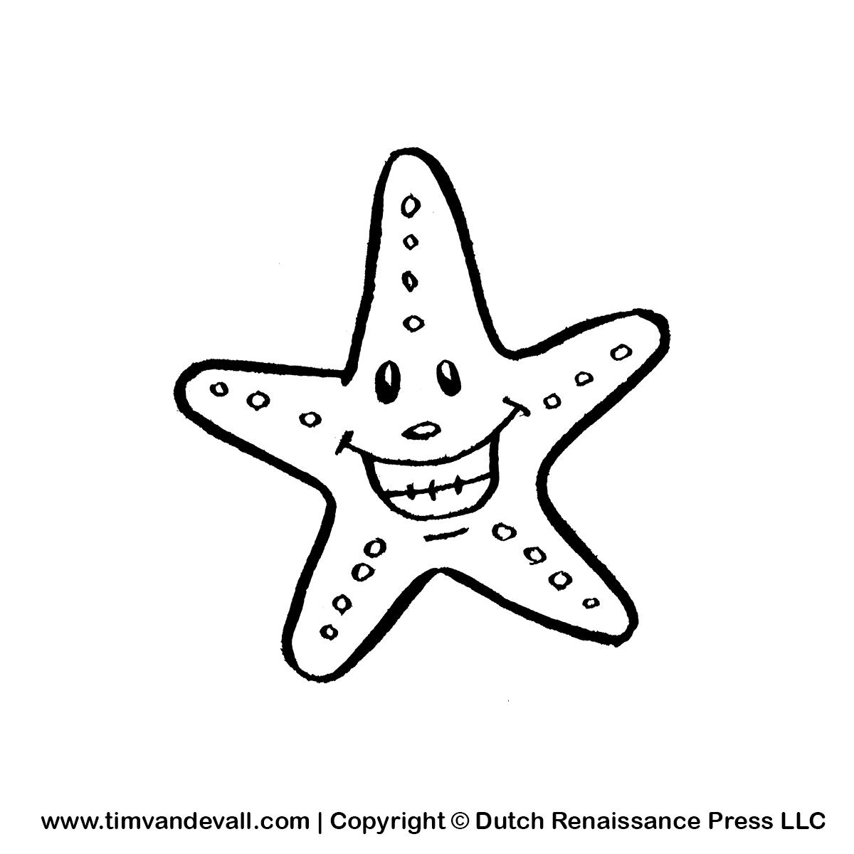 PNG Starfish Black And White - 59842