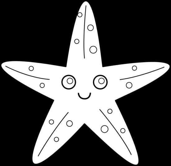 PNG Starfish Black And White - 59839