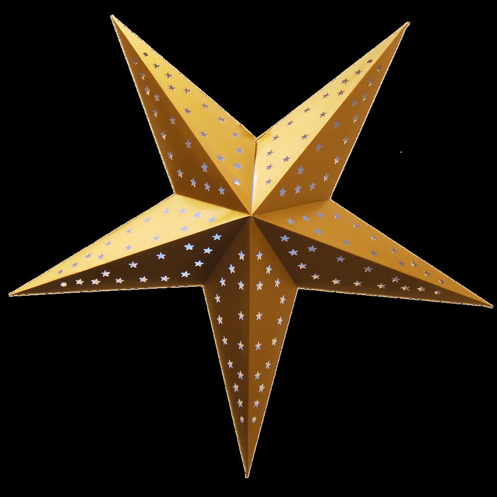 Guld stjerne-01 - PNG Stjerne