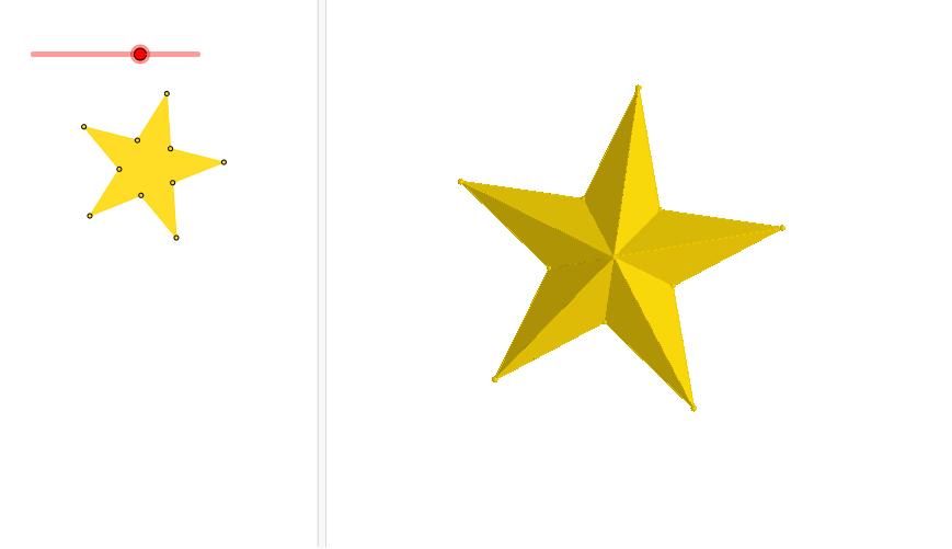 Lag en regulær femkant i grafikkfelt med 2D, skjul femkanten og trekk  linjestykker mellom punkter i mangekanten slik at de former en 5 kantet  stjerne. - PNG Stjerne