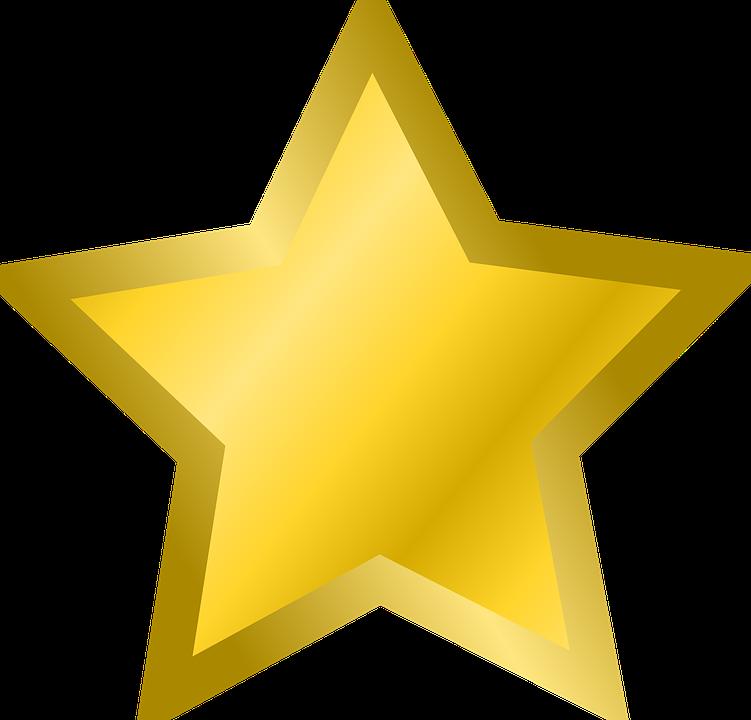 Stjerne, Favorit, Bogmærke, Guld, Gul - PNG Stjerne