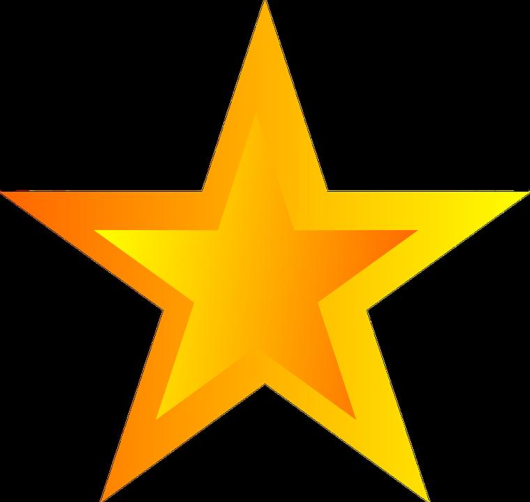 Stjerne, Femtakkede - PNG Stjerne