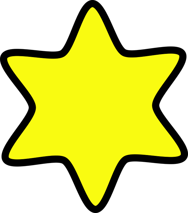 Stjerne, Gul, Form, Guld - PNG Stjerne