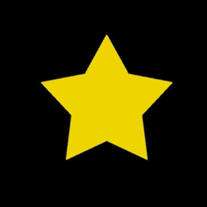 Stjerne, Gul, Himmel, Tips, Formular - PNG Stjerne