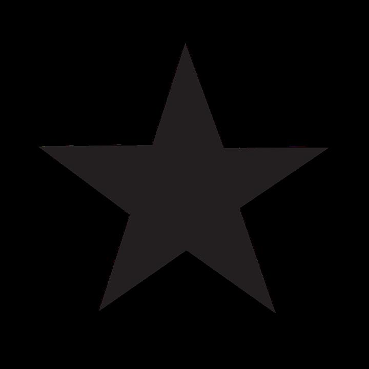 Stjerne, Ikon, Sort, Favorit, Bedømmelse - PNG Stjerne