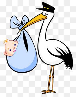 Postman stork, Stork Material, Postman Style, Blue Parcel PNG Image - PNG Stork