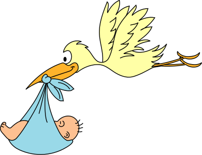 stork delivery baby 2 - PNG Stork