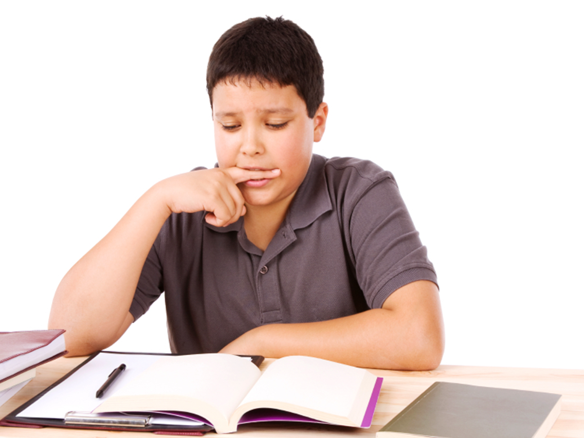 Boy Studying - PNG Student Studying