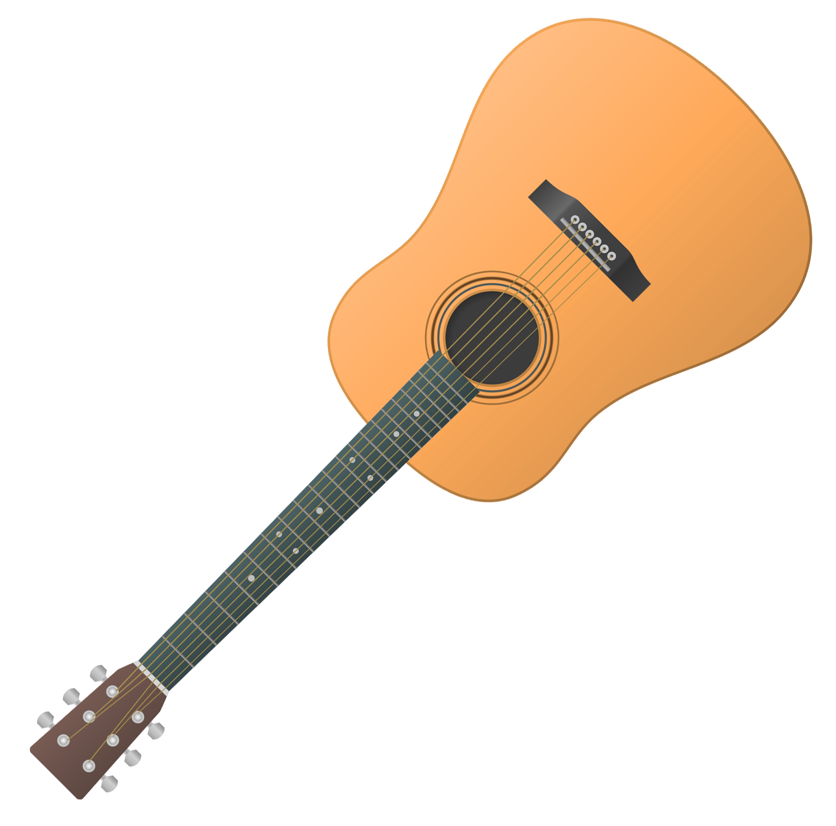 Guitar Vector PNG Transparent Image - PNG Style