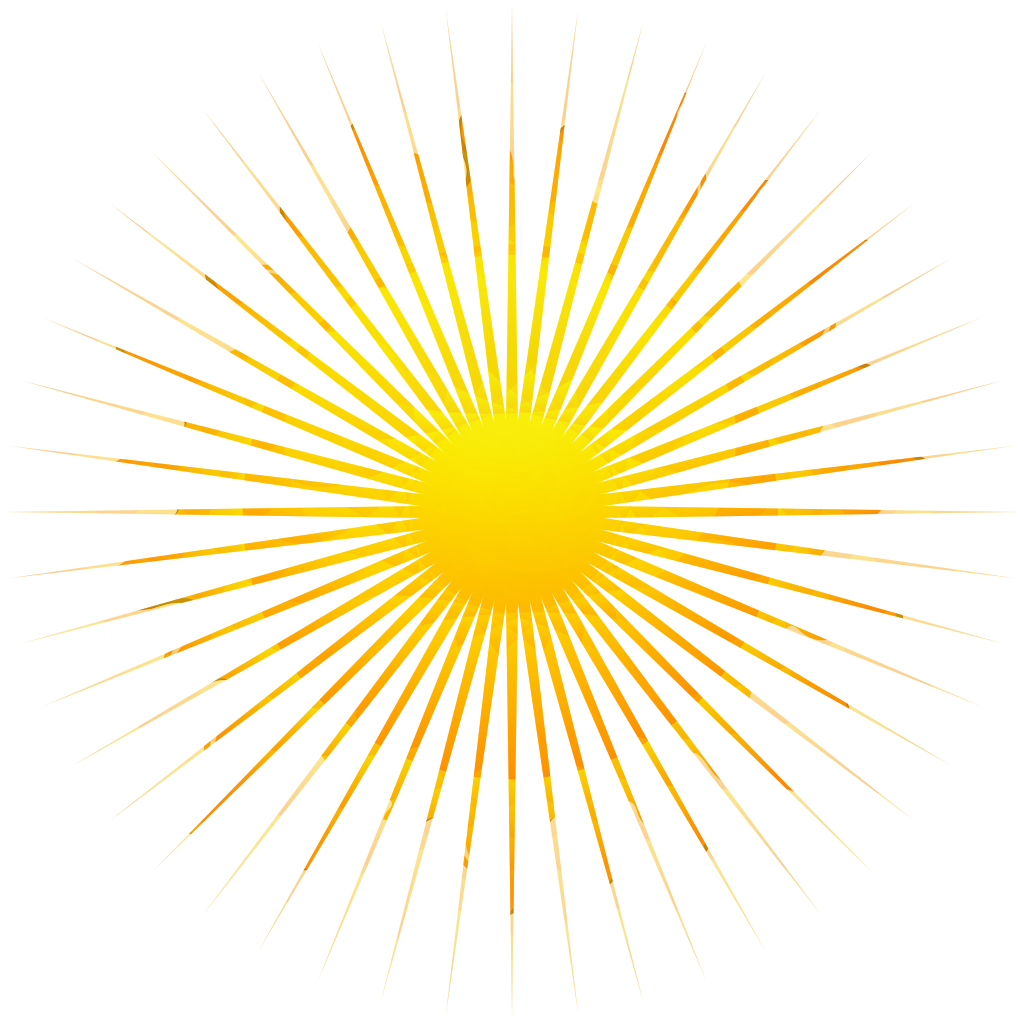 Yellow Sunrays Transparent 2.png - PNG Sun Rays