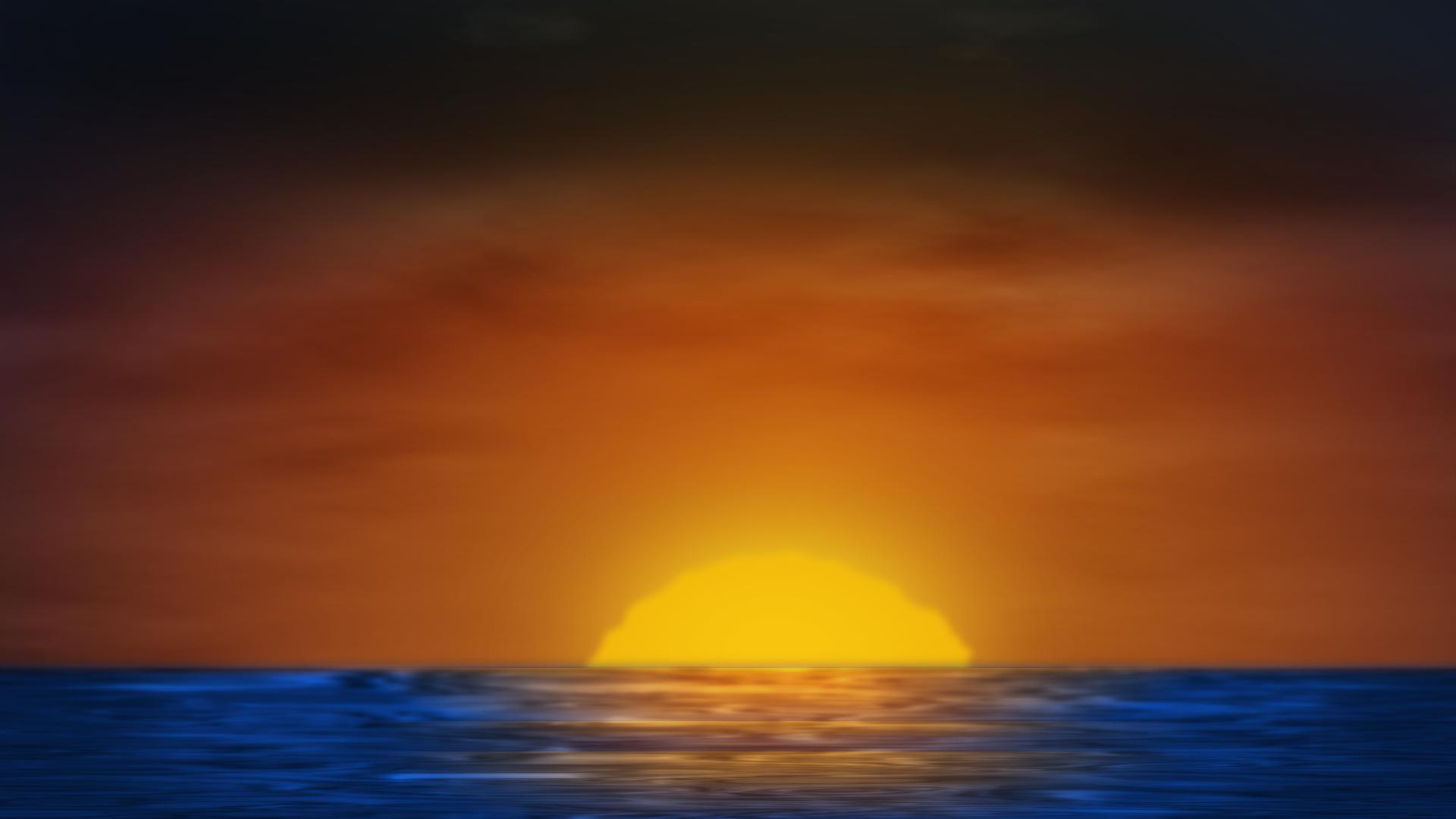 Ocean sunrise.png - PNG Sunrise