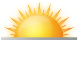 rising sun, sun rise, sunrise, weather icon. Download PNG - PNG Sunrise