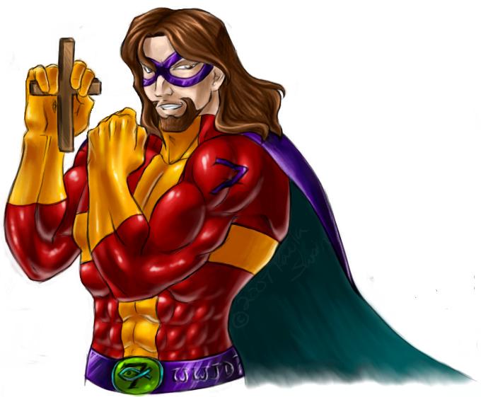 File:Super hero jesus.png - PNG Superhero