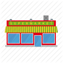 awning, building, shop, small town, store, supermarket, town icon - PNG Supermarket