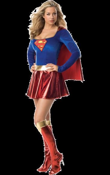 Adult Sexy Supergirl Super Hero Costume - PNG Superwoman