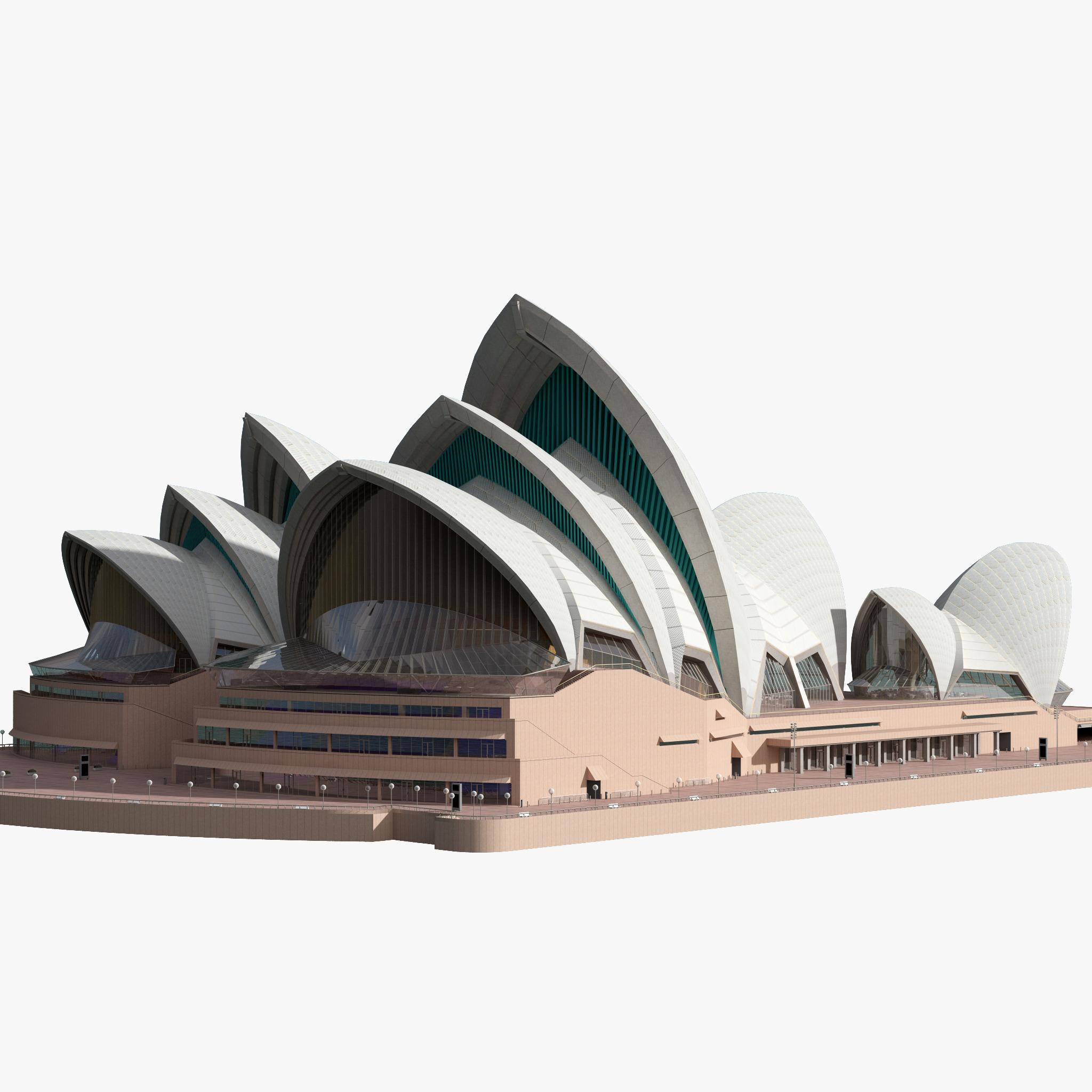 3d model sydney opera house - PNG Sydney Opera House
