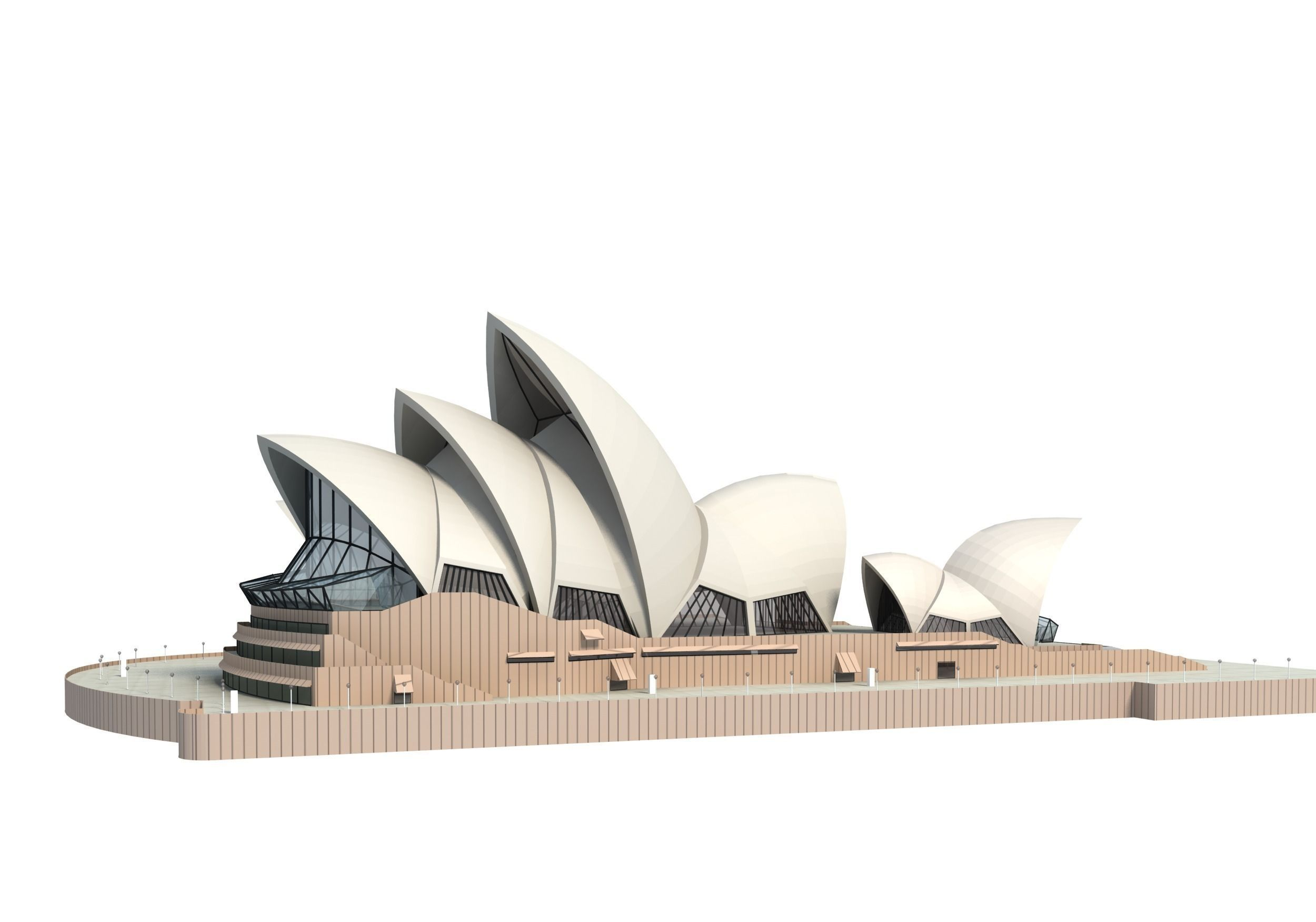 . PlusPng.com sydney opera house 3d model 3ds c4d dae skp 12 PlusPng.com  - PNG Sydney Opera House