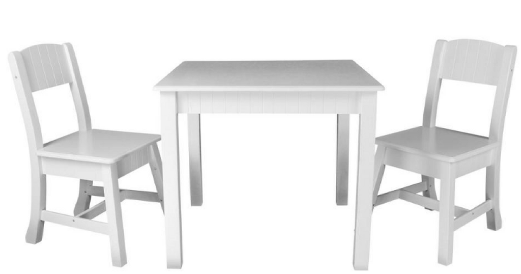 White Table Set Png And Chairs