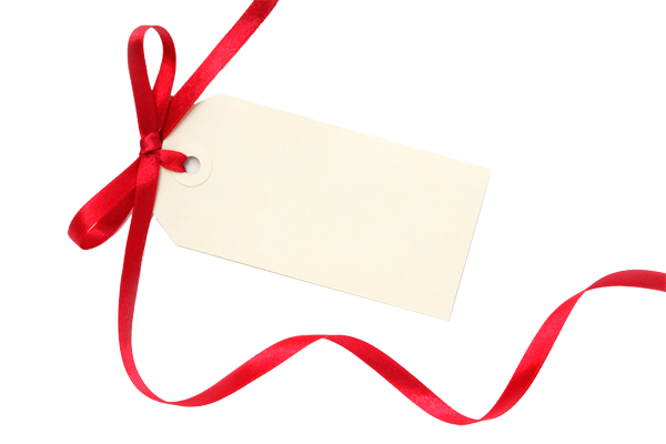 Christmas Present Gift Tag PNG PNG - PNG Tag