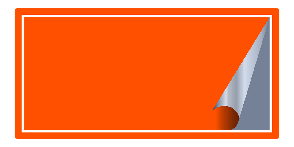 sticker tag office orange - PNG Tag