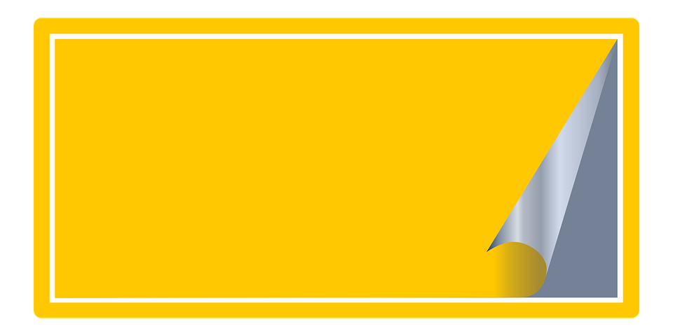 Yellow, Sticker, Tag, Office - PNG Tag