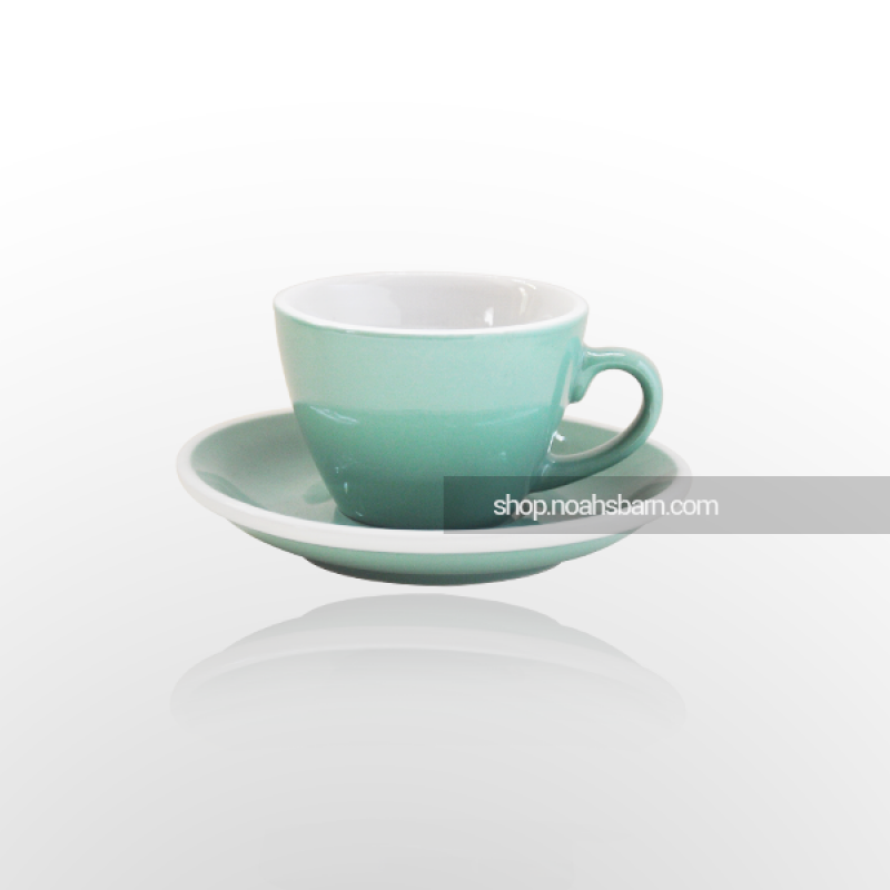 ACME Flat White Cup u0026 Saucer Green - 150ml PlusPng.com  - PNG Tea Cup And Saucer
