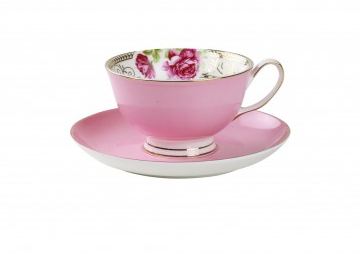 Buy online now pink teacup and saucer - spring fling $ - PNG Tea Cup And Saucer