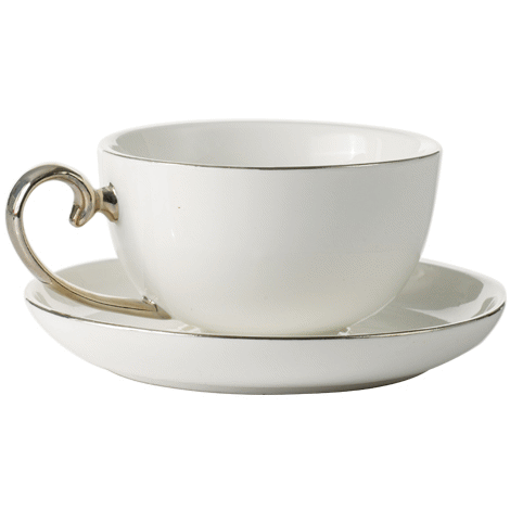 Tea Cup and Saucer - PNG Tea Cup And Saucer