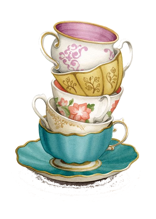 TEACUP STACK PNG - TRANSPARENCY / OVERLAY FOR PERSONAL USE - PNG Tea Cup And Saucer
