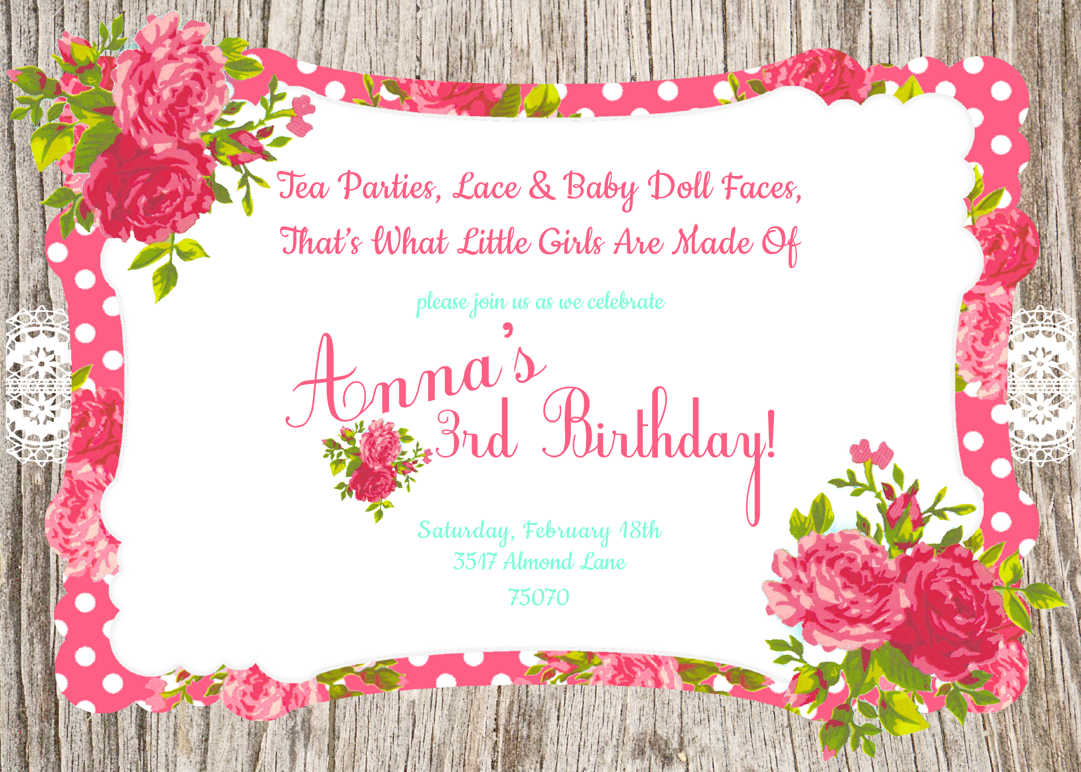 PNG Tea Party Invitation Transparent Tea Party Invitation.PNG ...