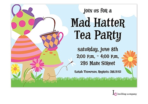 Mad hatter tea party invitations to inspire you on how to create your own tea  party invitation 5 - PNG Tea Party Invitation