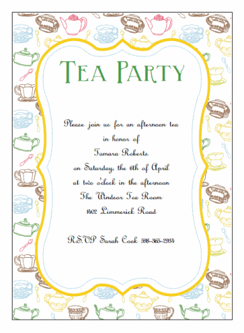 printable tea party invitations - PNG Tea Party Invitation