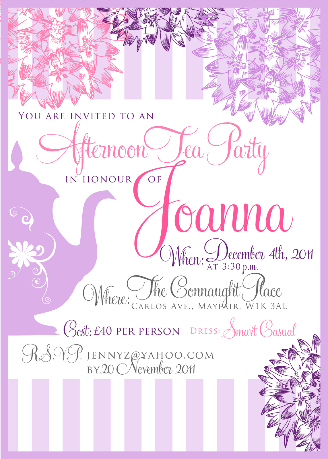 PNG Tea Party Invitation Transparent Tea Party Invitation.PNG Images ...