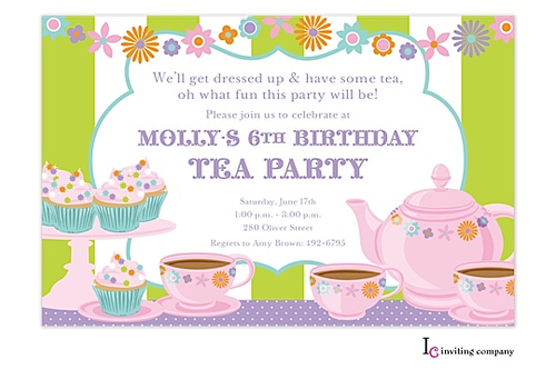 Tea party invitations as an additional inspiration for a exceptional party  invitation design with exceptional layout 12 - PNG Tea Party Invitation