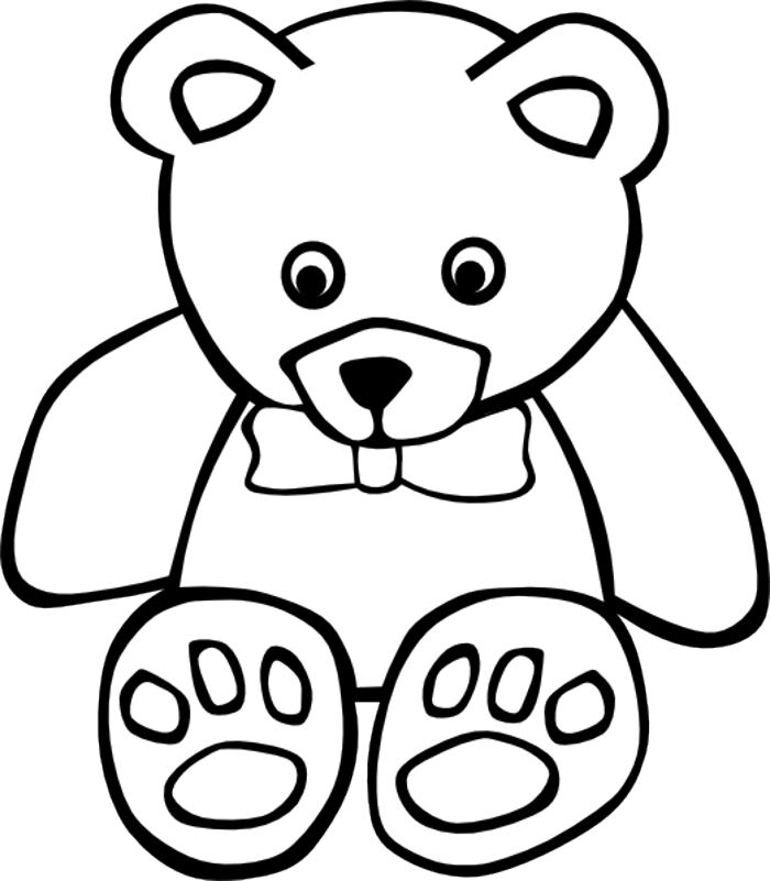 PNG Teddy Bear Black And White - 59051
