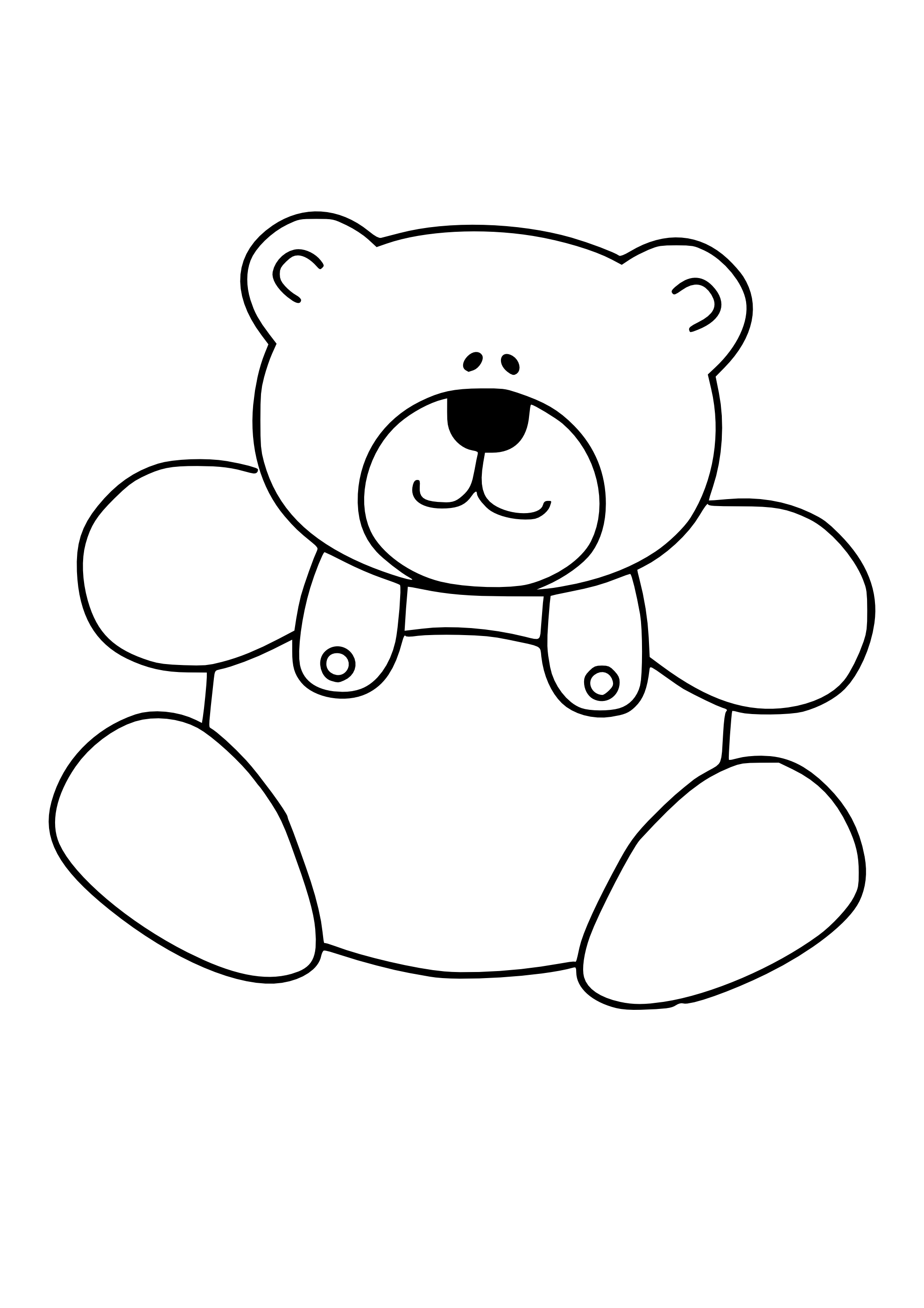 PNG Teddy Bear Black And White - 59048
