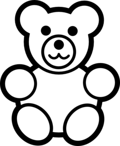 PNG Teddy Bear Black And White - 59044