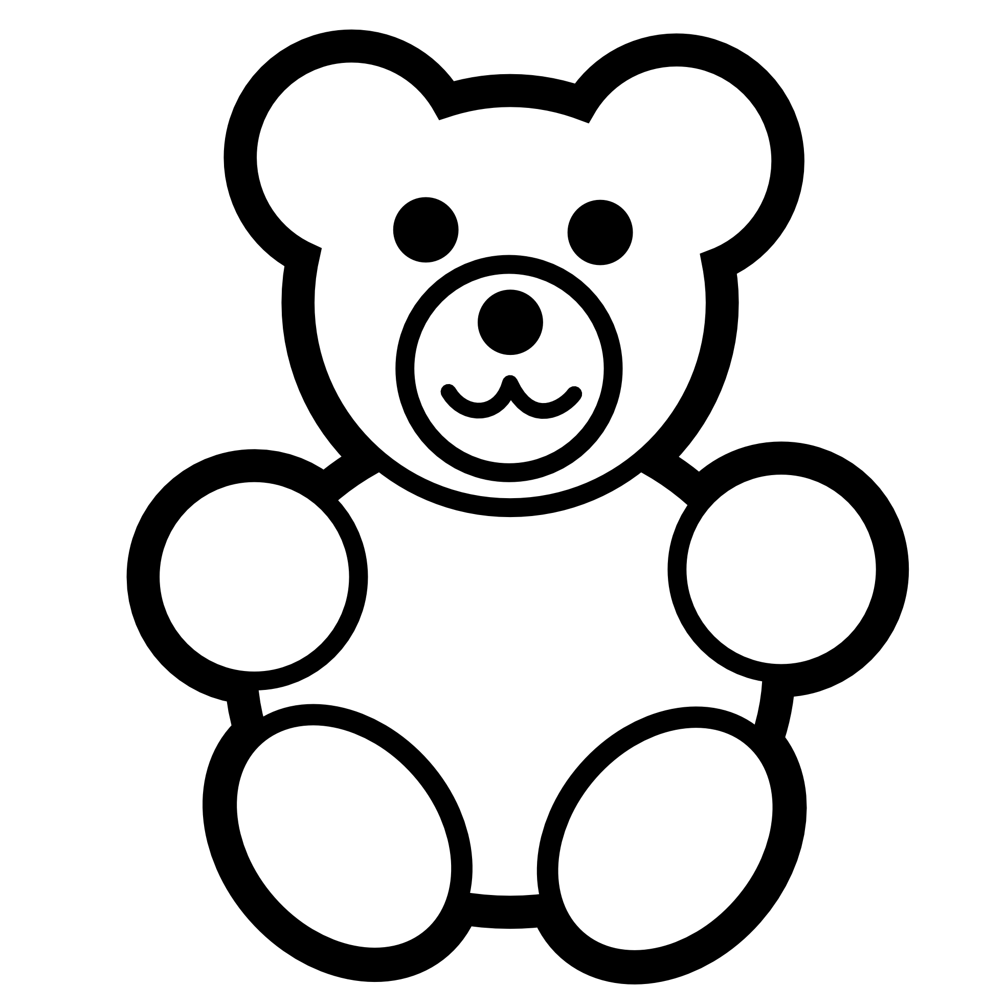PNG Teddy Bear Black And White - 59045