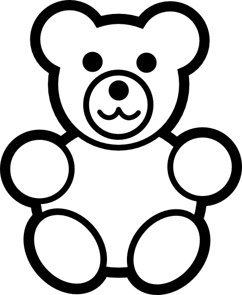 PNG Teddy Bear Black And White - 59050