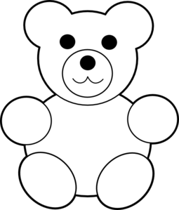 PNG Teddy Bear Black And White - 59047
