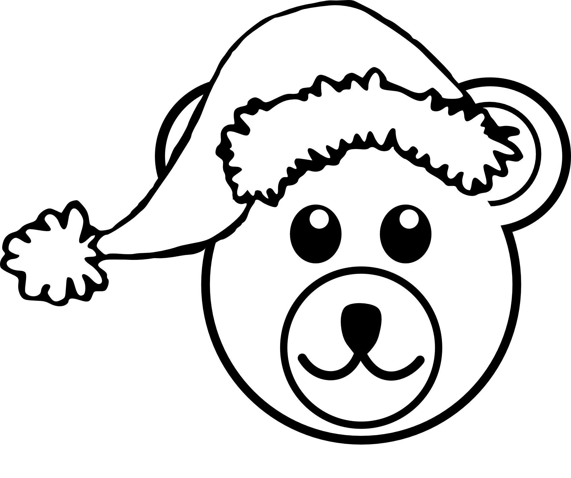 PNG Teddy Bear Black And White - 59057