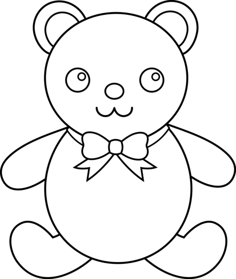 PNG Teddy Bear Black And White - 59053
