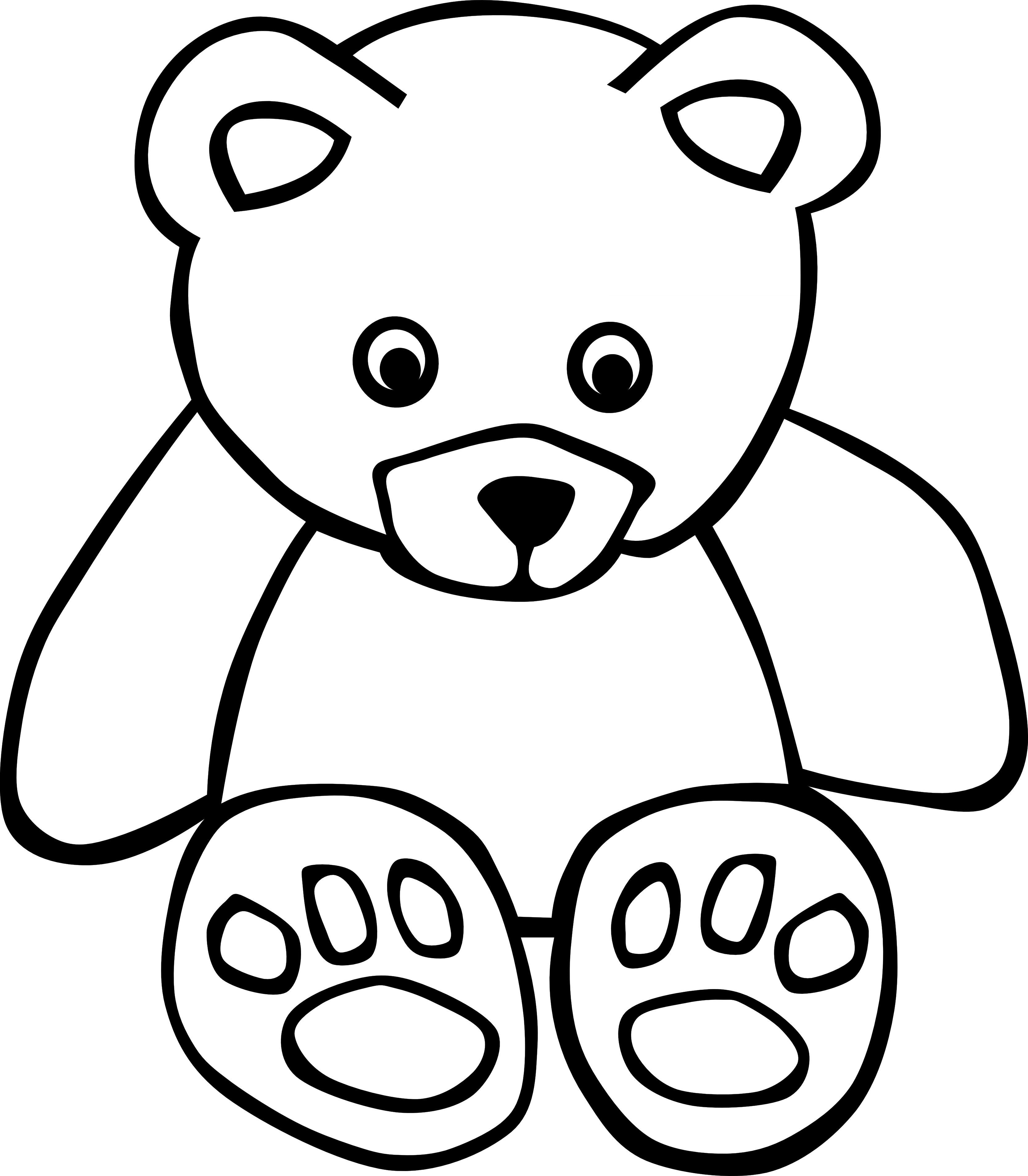 PNG Teddy Bear Black And White - 59042