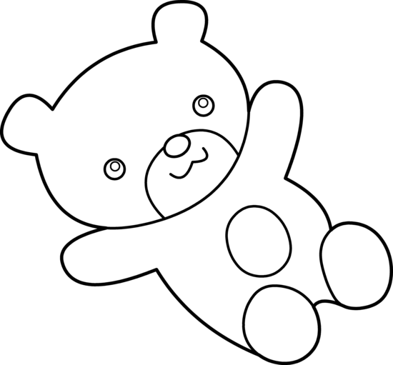 PNG Teddy Bear Black And White - 59054