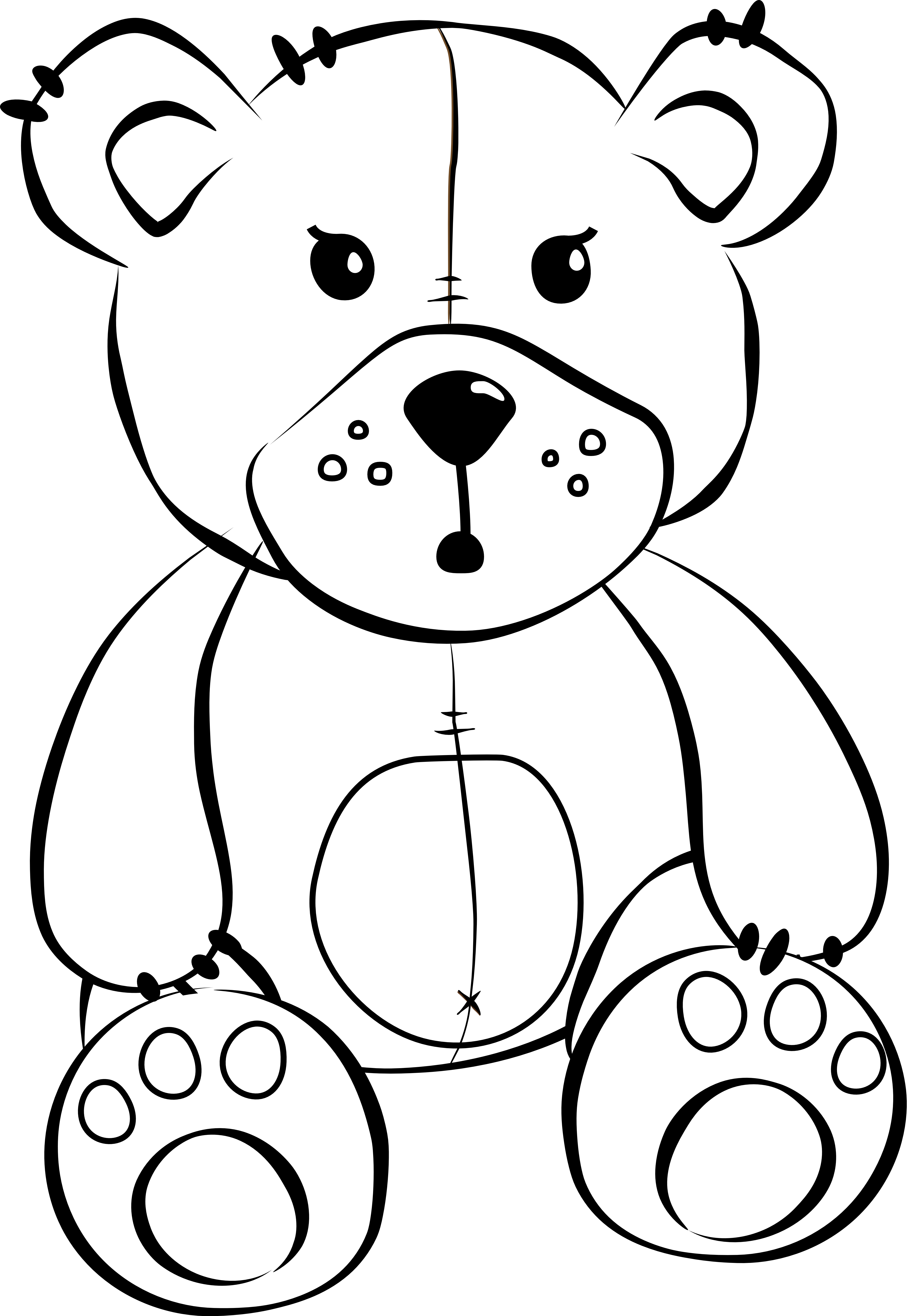 Png Teddy Bear Black And White Cartoon Free Download Clip Art On 4444